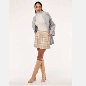 Aritzia Wilfred Renée Plaid A-line Mini Skirt